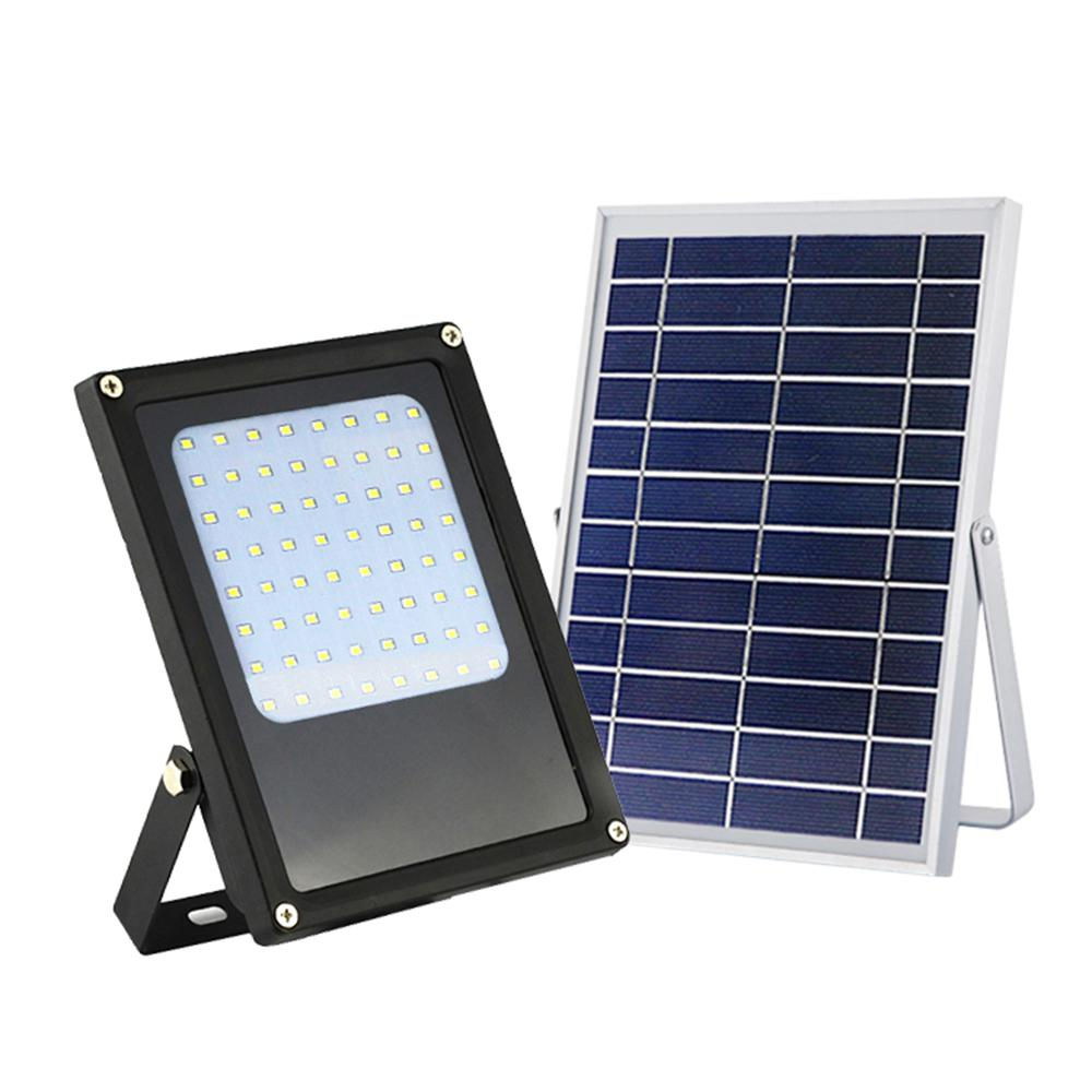 Eleding Solar Ed 6 Watt Black Outdoor Integrated Led Landscape Flood Light With Bright Selectable For Safety And Decoration