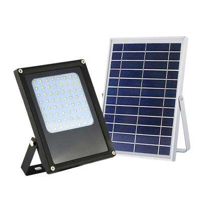 Solar Powered 6-Watt Black Outdoor Integrated LED Landscape Flood Light with Bright Selectable for Safety and Decoration