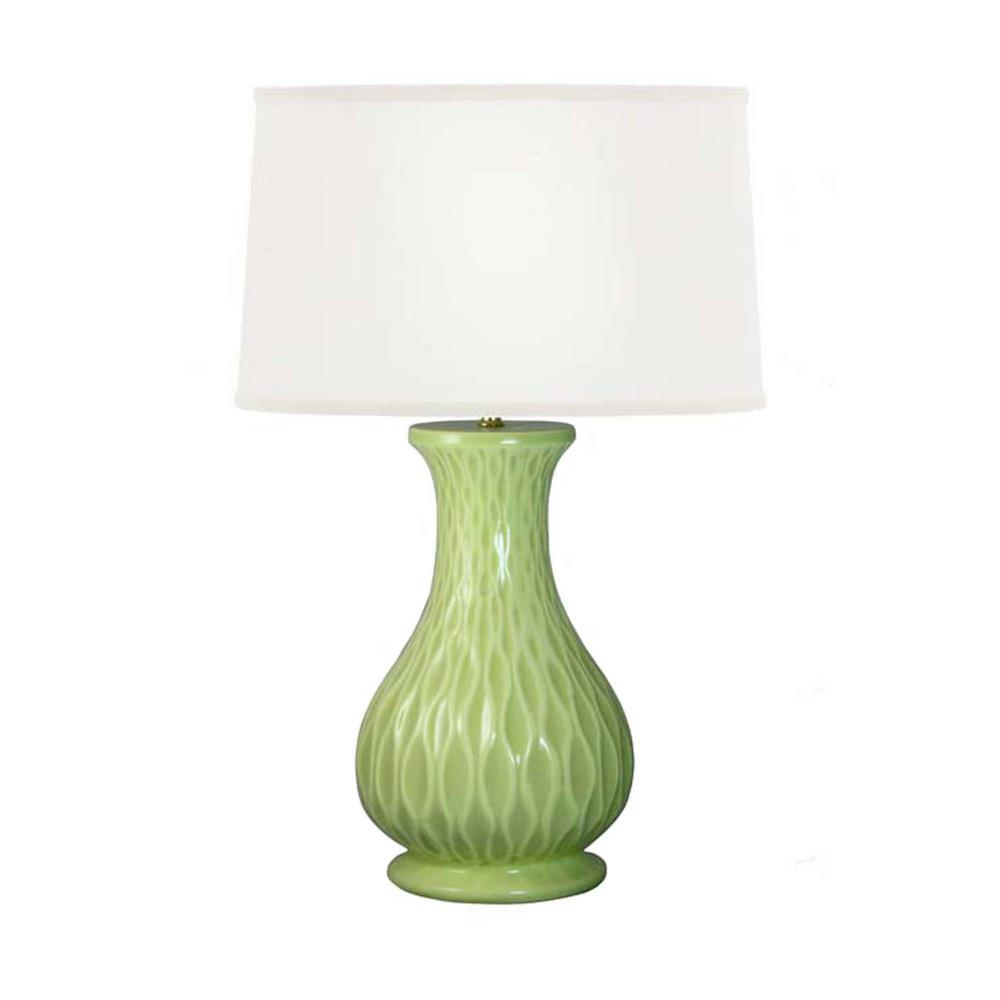 Celadon Whimsical Waves Ceramic Table Lamp