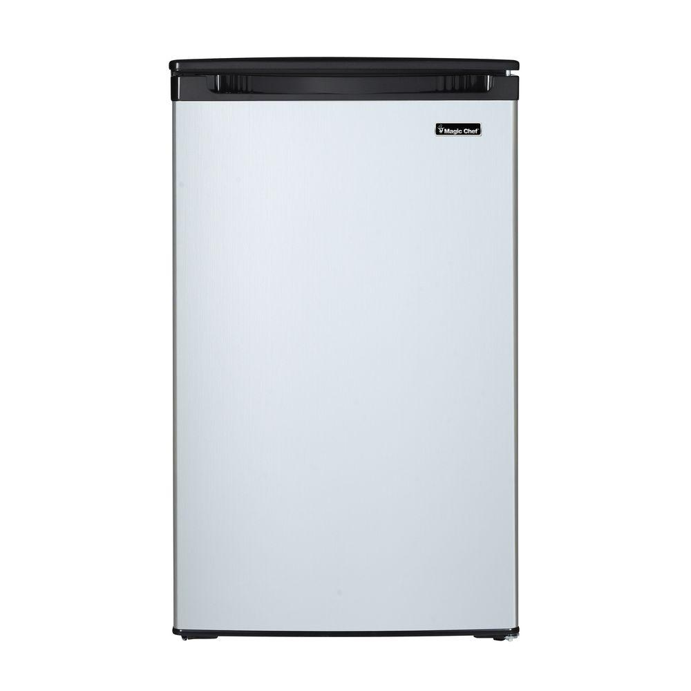 Magic Chef 4.4 cu. ft. Mini Fridge with Freezerless Design in Stainless Steel