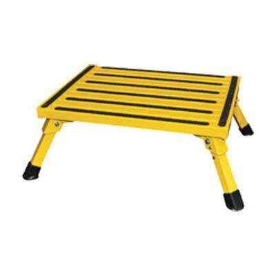 Small Folding Safety Step in Yellow