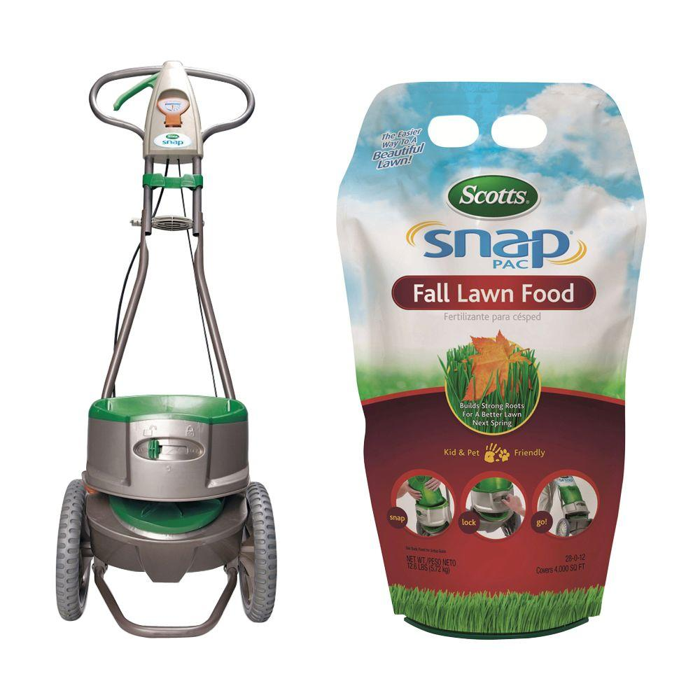 Scotts 4M Snap Pac Fall Lawn Food with Snap Spreader