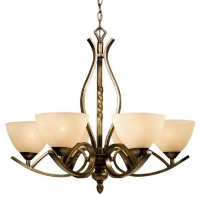 Negron 6-Light Sepia Incandescent Chandelier