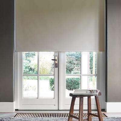 Cut-to-Size Beige Cordless Blackout Fabric Roller Shade 42 in. W x 72 in. L
