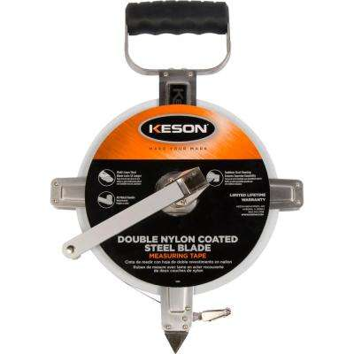 200 ft. Steel Open Reel Tape Measure, Stainless Steel Housing, SAE