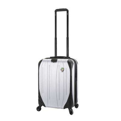 Compaz 20 in. White Carry-On Hardside Spinner Suitcase