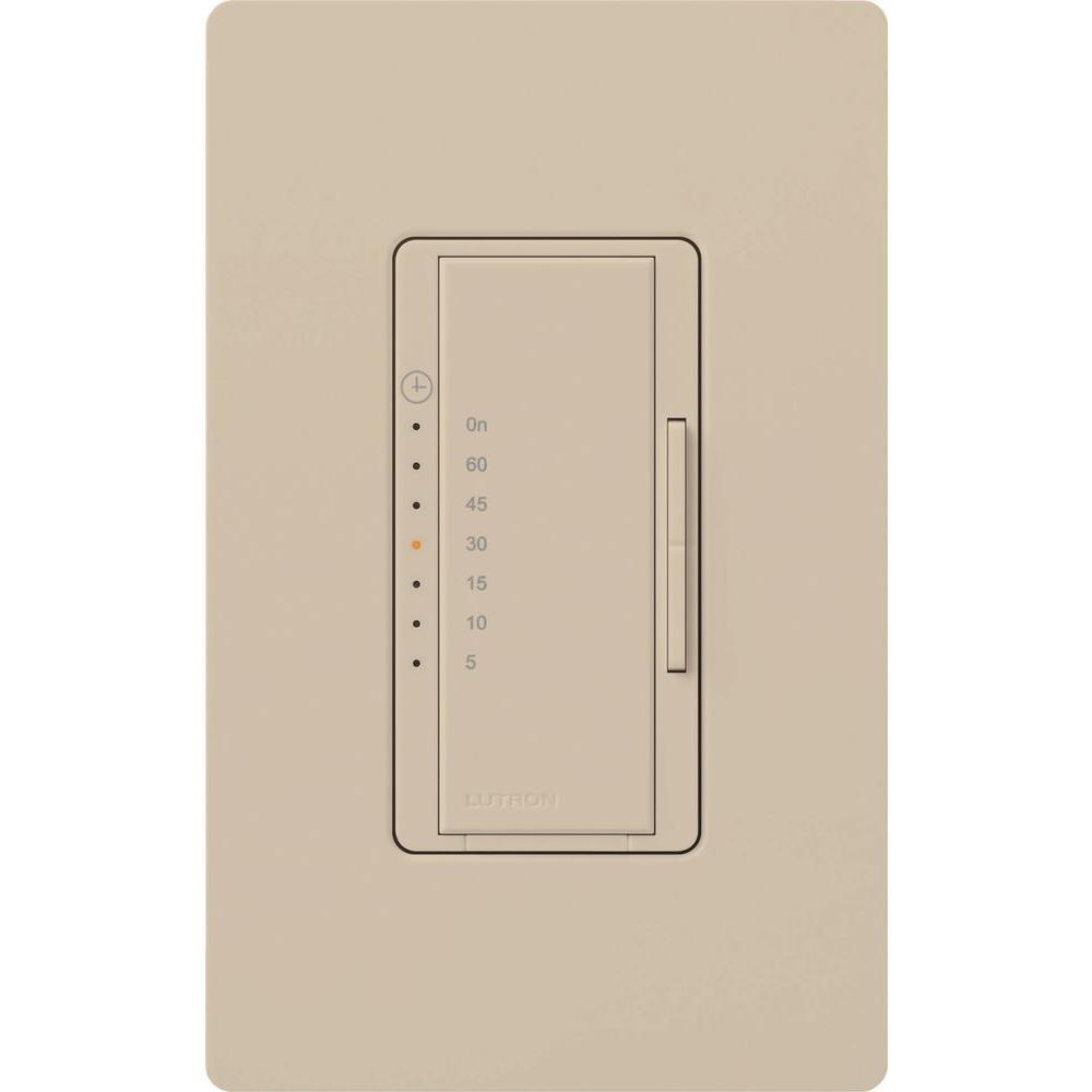 Maestro 600-Watt/VA Multi-Location/Single Pole Countdown Timer - Taupe