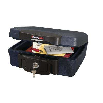0.17 cu. ft. Fire Resistant and Waterproof Chest with Key Lock in Black