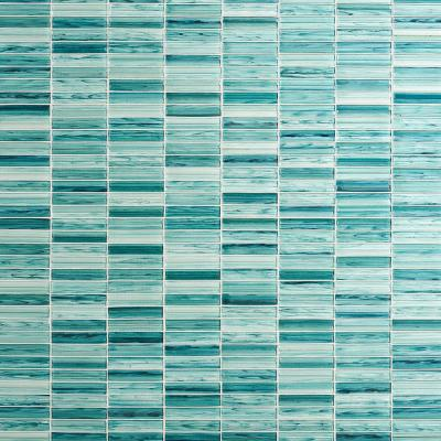 Tara Turquoise 11.61 in. x 11.73 in. Stacked Glass Mosaic Tile (0.95 Sq. Ft. / Sheet)