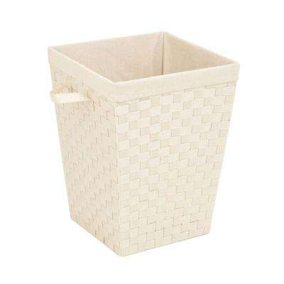Woven Strap Hamper with Liner in Creme