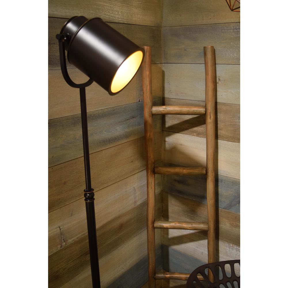Kenroy Home Allen 61 In Bronze Indoor Floor Lamp With Shade