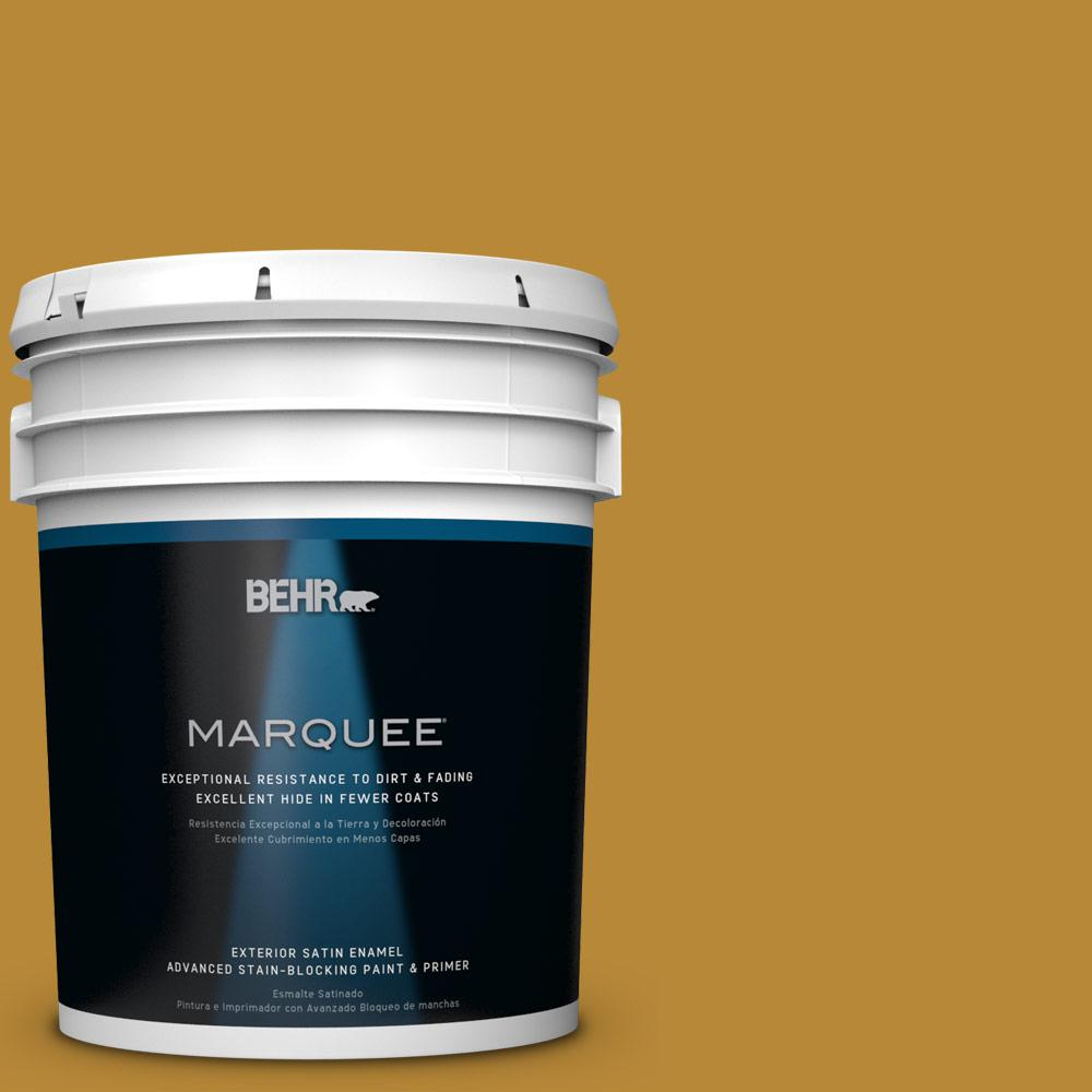 BEHR MARQUEE 5-gal. #S-H-350 Burmese Gold Satin Enamel Exterior Paint