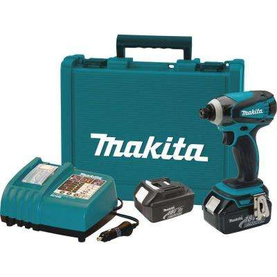 18-Volt LXT Lithium-Ion 1/4 in. Cordless Impact Driver Kit with Automotive Charger, (2) Batteries 3.0Ah, and Hard Case