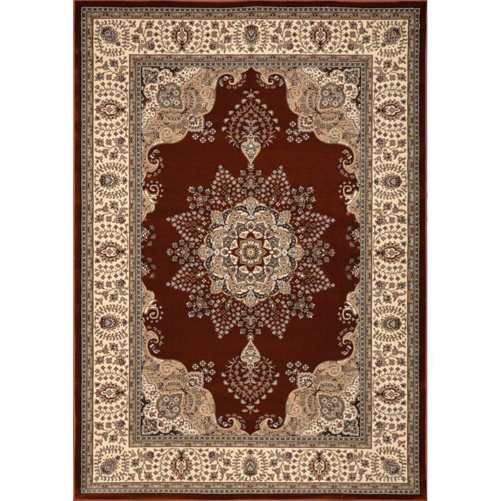 Home Dynamix Triumph Rust/Ivory 5 ft. 2 in. x 7 ft. 6 in. Indoor Area Rug