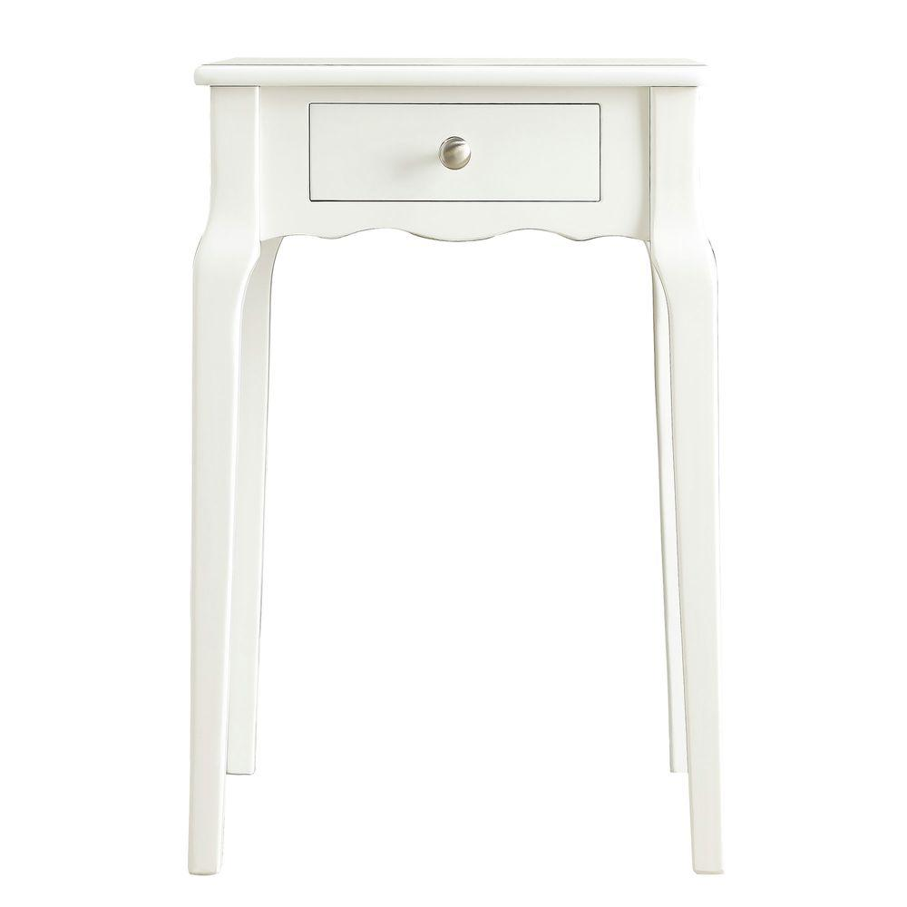 Lisette White End Table