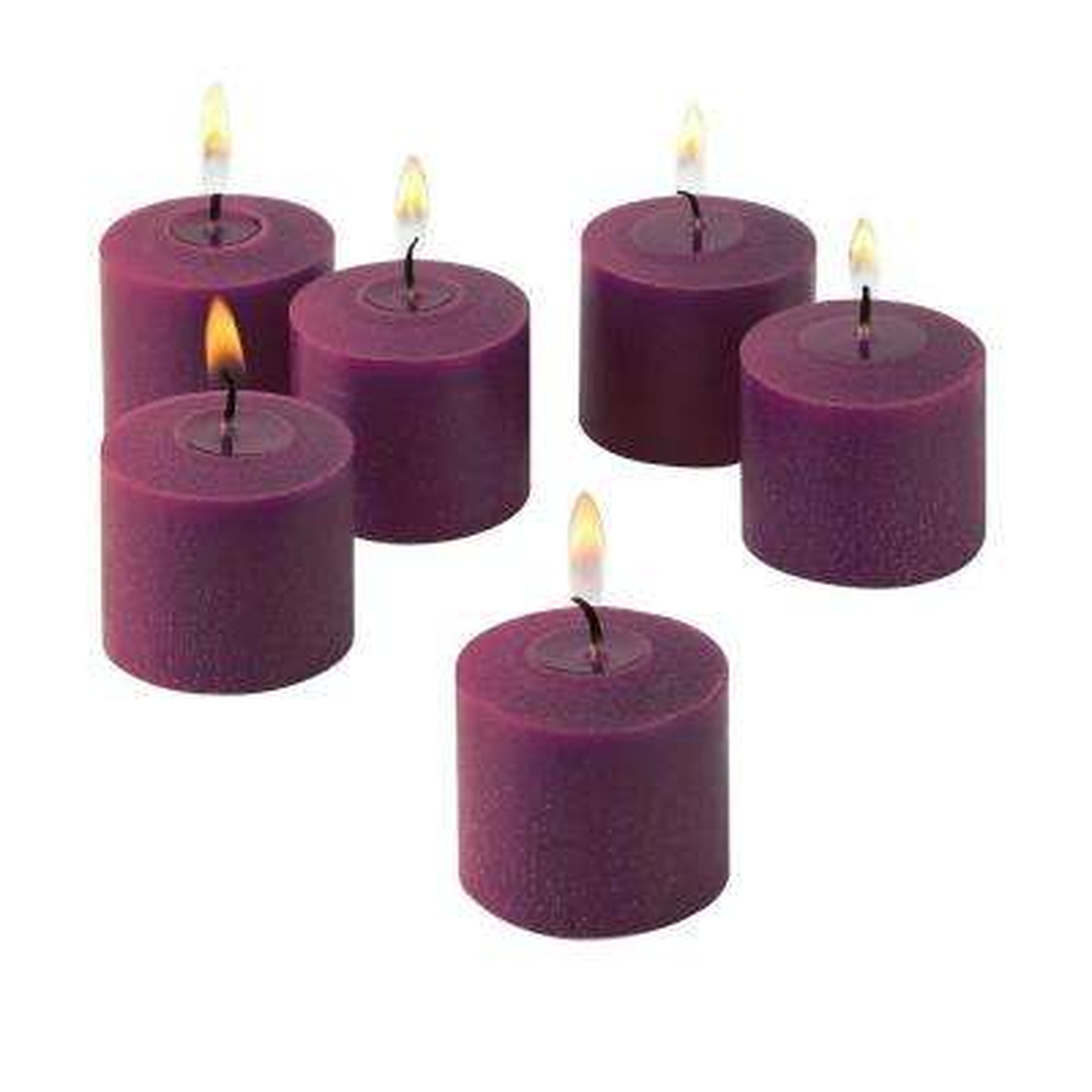Burn 10 Hours Purple Unscented Votive Candles (Set of 288)
