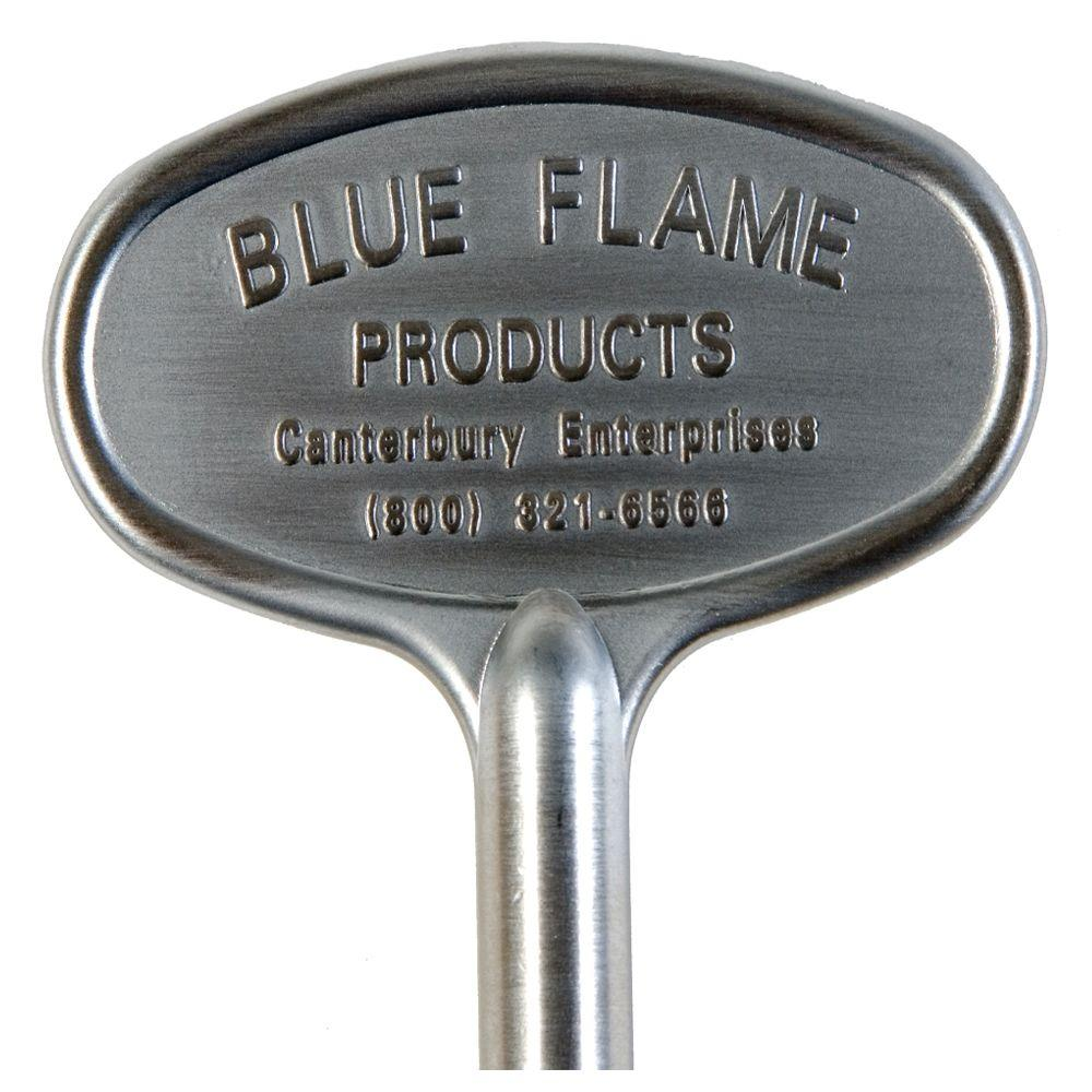 Blue Flame 8 in. Universal Gas Valve Key in Satin Chrome