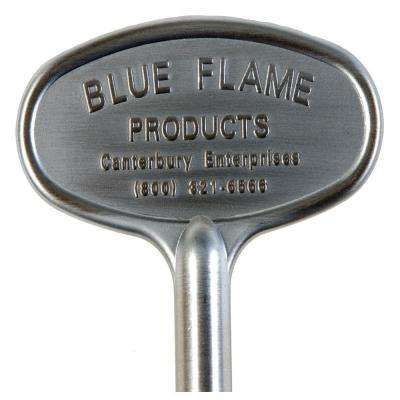 8 in. Universal Gas Valve Key in Satin Chrome