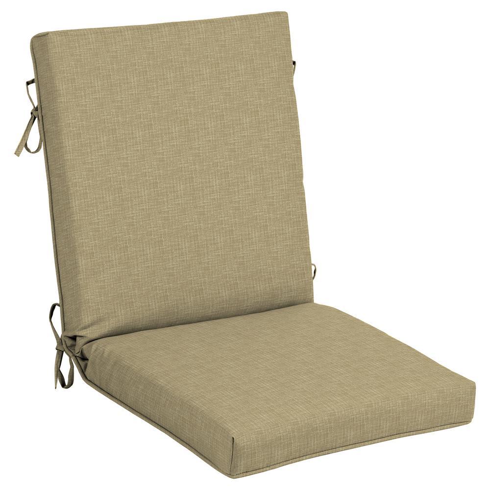 CushionGuard Toffee Trellis Outdoor High Back Dining Chair Cushion