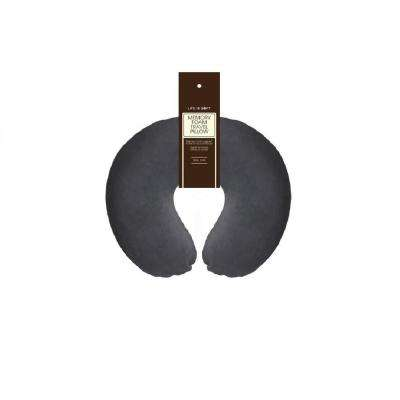 Memory Foam Travel Pillow in Charcoal