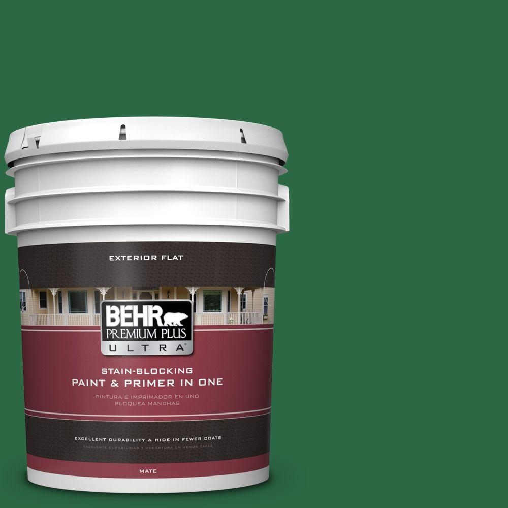 BEHR Premium Plus Ultra 5-gal. #S-H-460 Chopped Chive Flat Exterior Paint