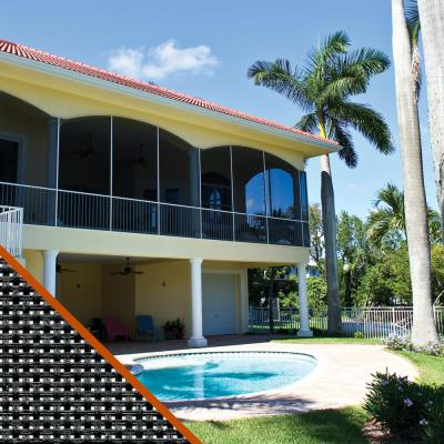 48 in. x 100 ft. Sun Guard 85 Charcoal Fiberglass Solar Screen