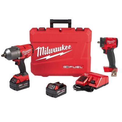 M18 FUEL 18-Volt Lithium-Ion Brushless Cordless 1/2 in. and 3/8 in. Impact Wrench with Friction Ring Kit (2-Tool)