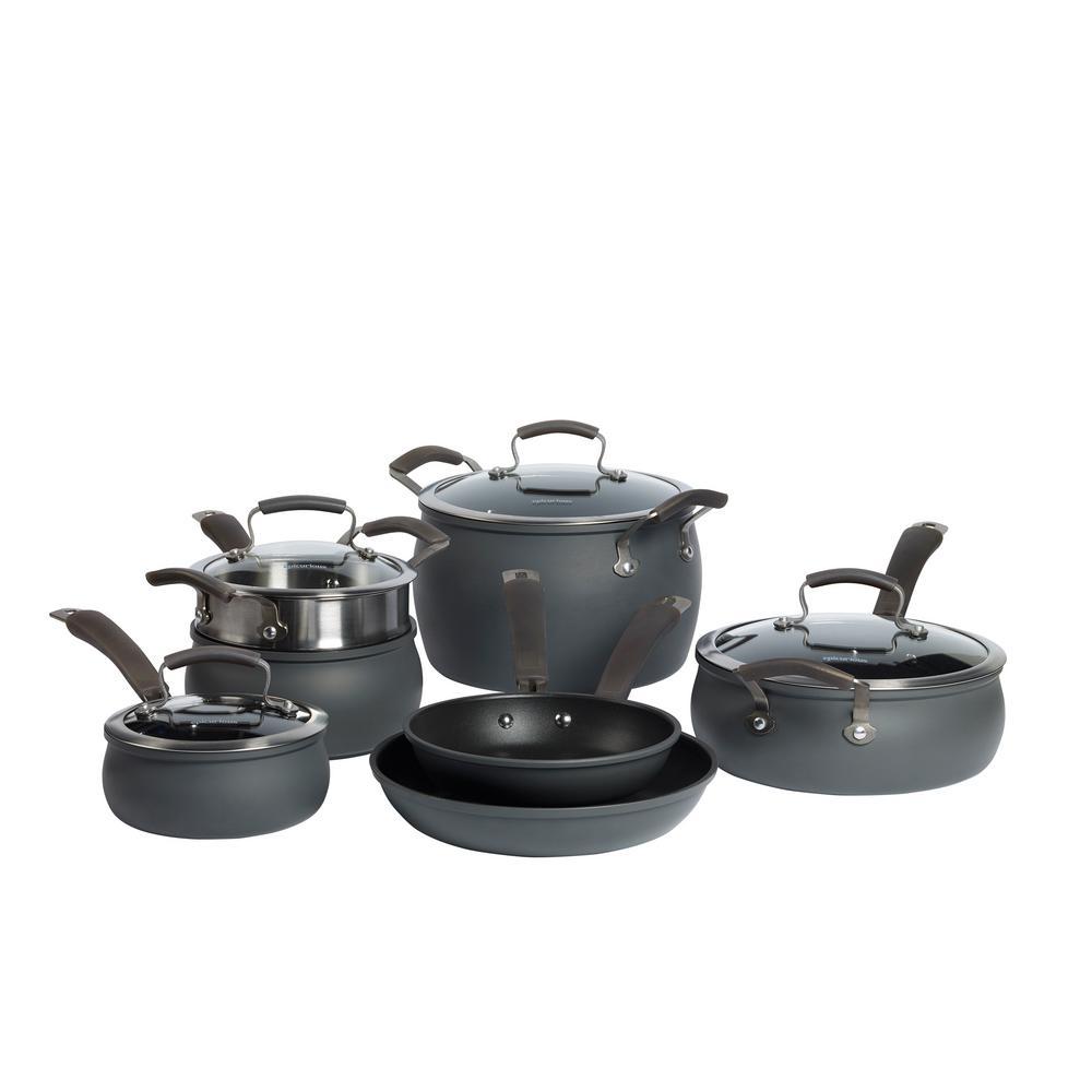 11-Piece Hard Anodized Cookware Set
