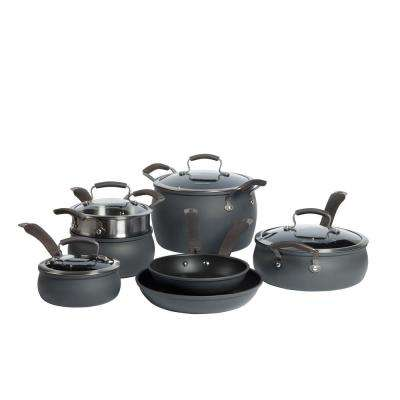 11-Piece Hard Anodized Cookware Set