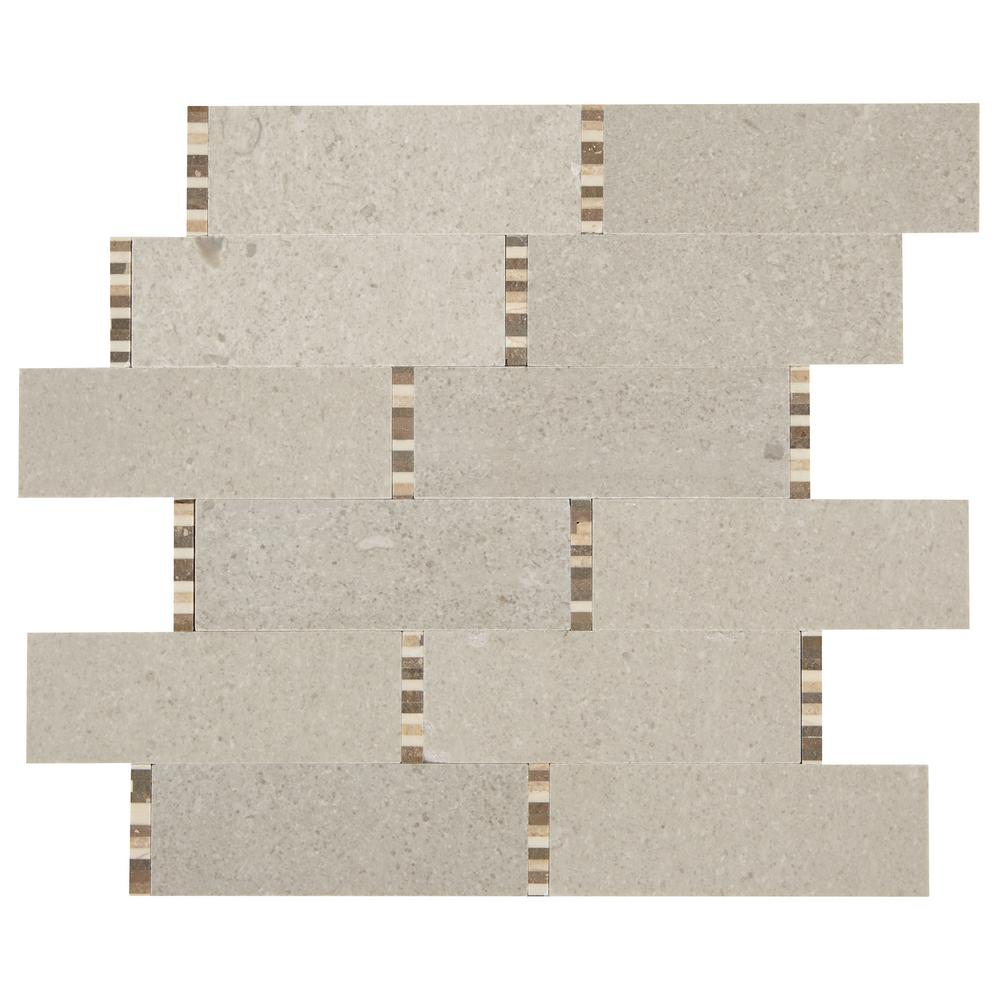 daltile premier accents bisque mini brick joint 11 in x 13 in x 8
