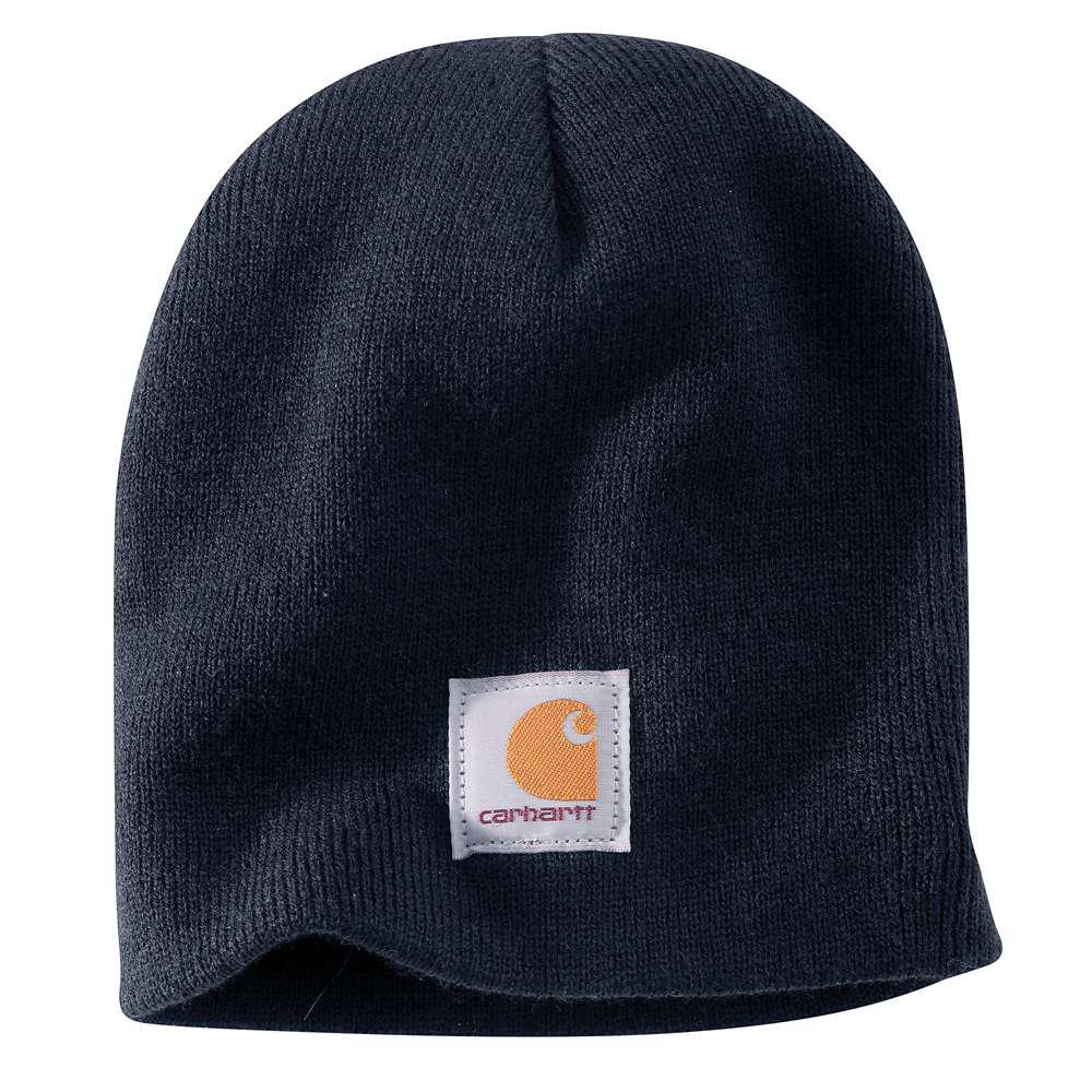 577b6f9225769 Carhartt Men s OFA Navy Acrylic Hat Headwear-A205-NVY - The Home Depot