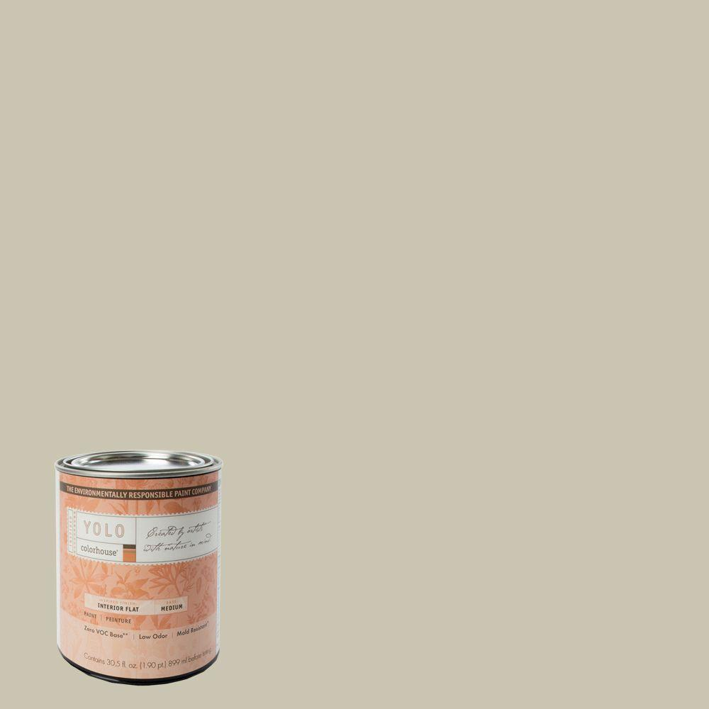 YOLO Colorhouse 1-Qt. Metal .01 Flat Interior Paint-DISCONTINUED