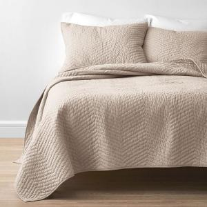 Company Cotton Mushroom Solid Twin Quilt
