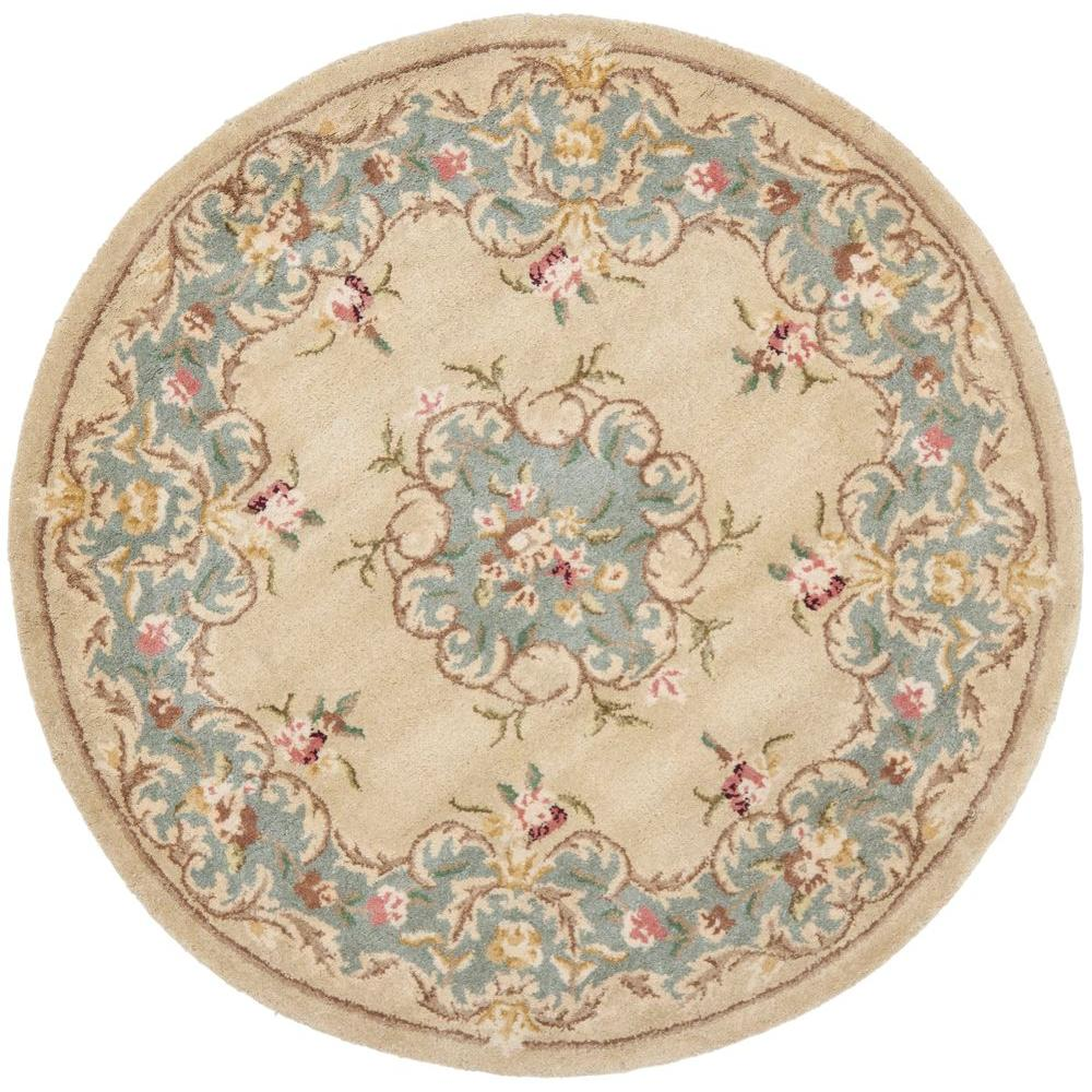 safavieh montauk blue 4 ft x 4 ft round area rug mtk751a 4r the home depot. Black Bedroom Furniture Sets. Home Design Ideas