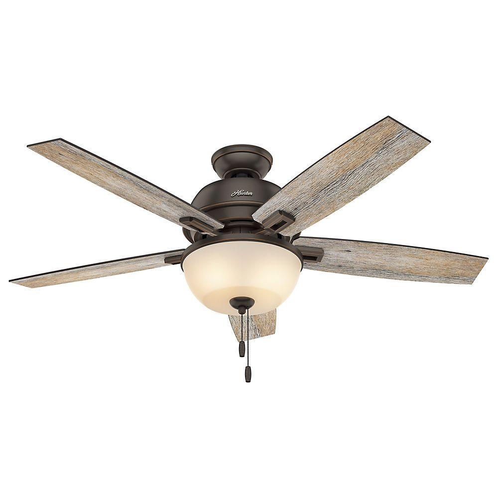 Hunter Donegan 52 in. LED Indoor Onyx Bengal Bronze Ceiling Fan