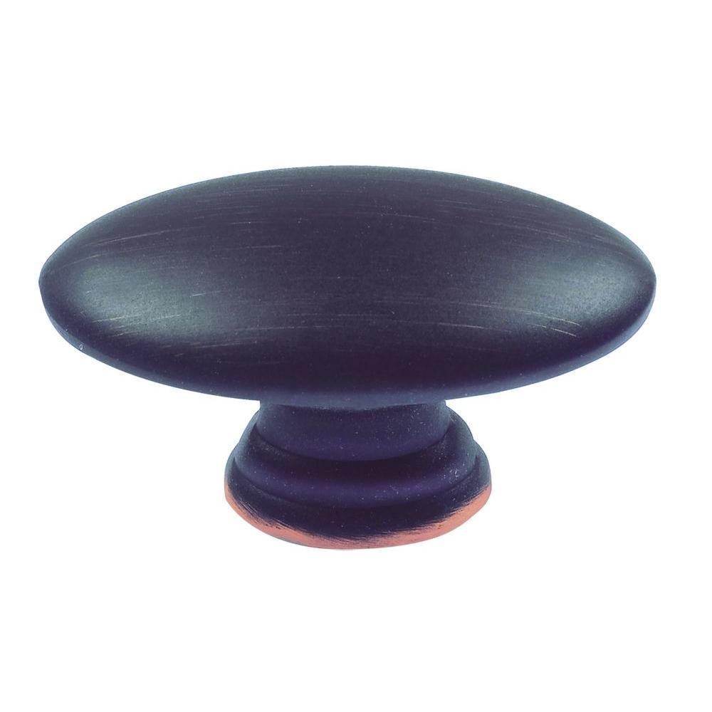 Successi 1 1/2 in. Venetian Bronze Sm Egg Oval Knob