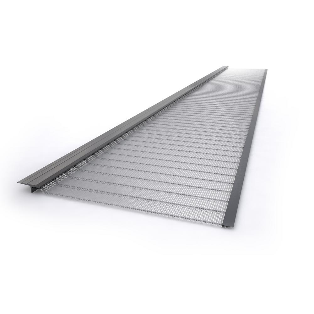 3 ft. Stainless Steel 5 in. Micro-Mesh Gutter Guard (1-Piece)
