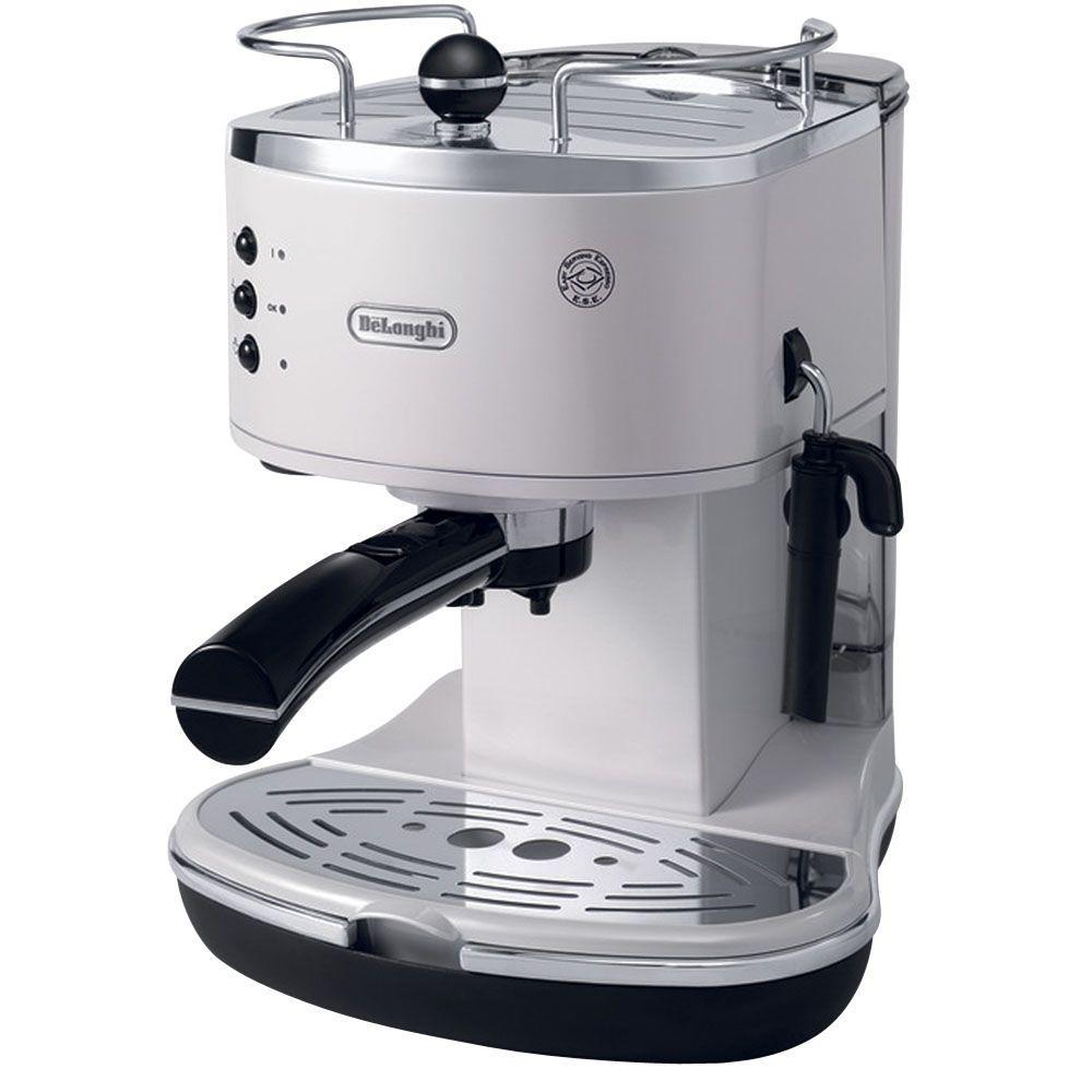 Icona Espresso 15-Bar White Espresso Machine and Cappuccino Maker
