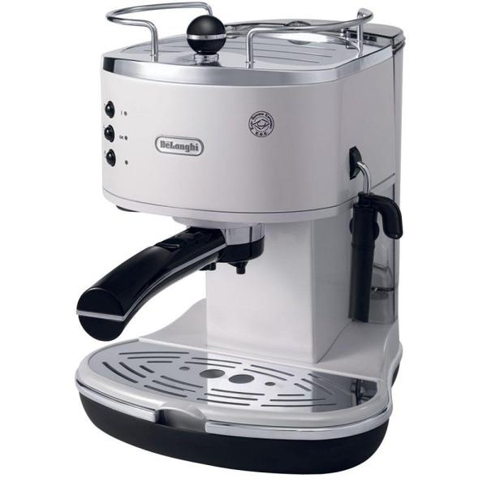 DeLonghi Icona Espresso 15-Bar White Espresso Machine and Cappuccino Maker