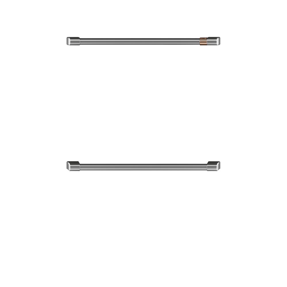 Cafe 30 in. Double Wall Oven Handles in Brushed Stainless