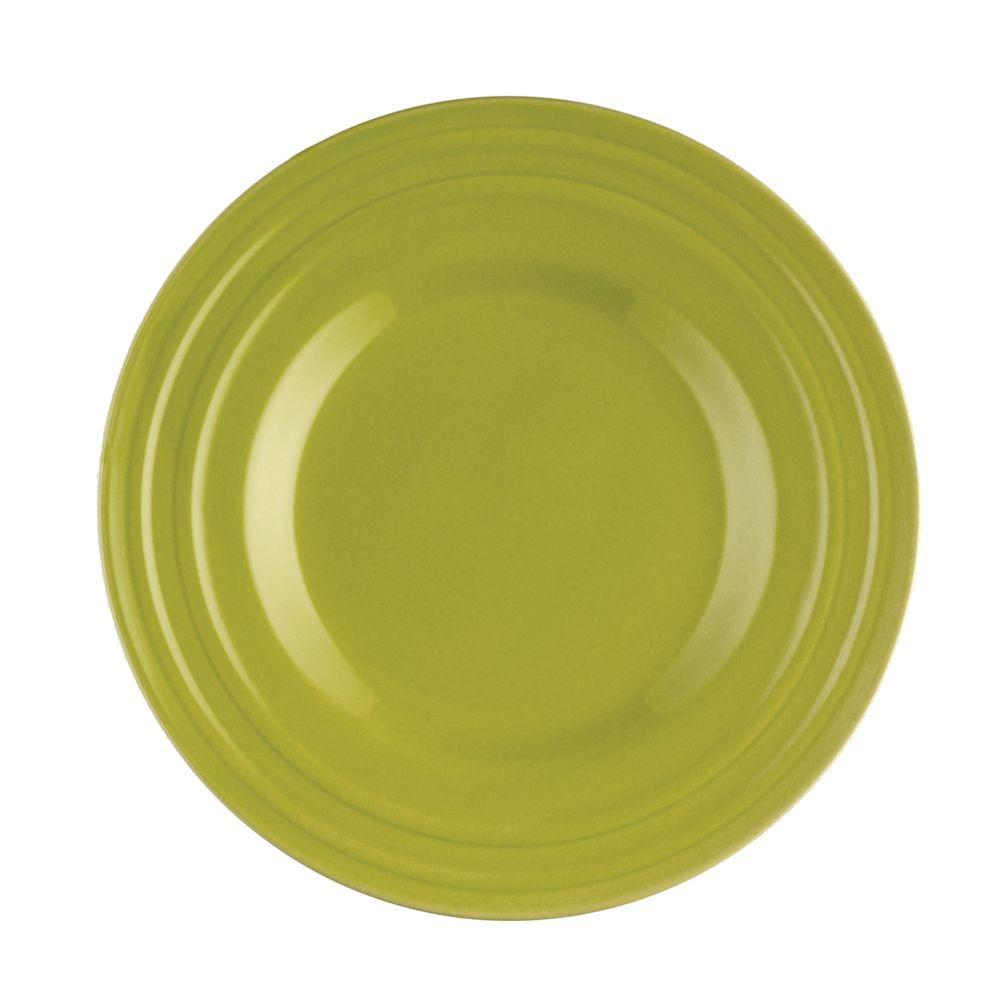 Rachael Ray Double Ridge 4-Piece Salad Plate Set in Green