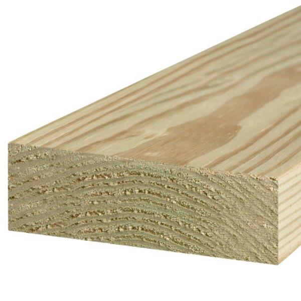 2 in. x 6 in. x 8 ft. #1 Ground Contact Pressure-Treated Lumber