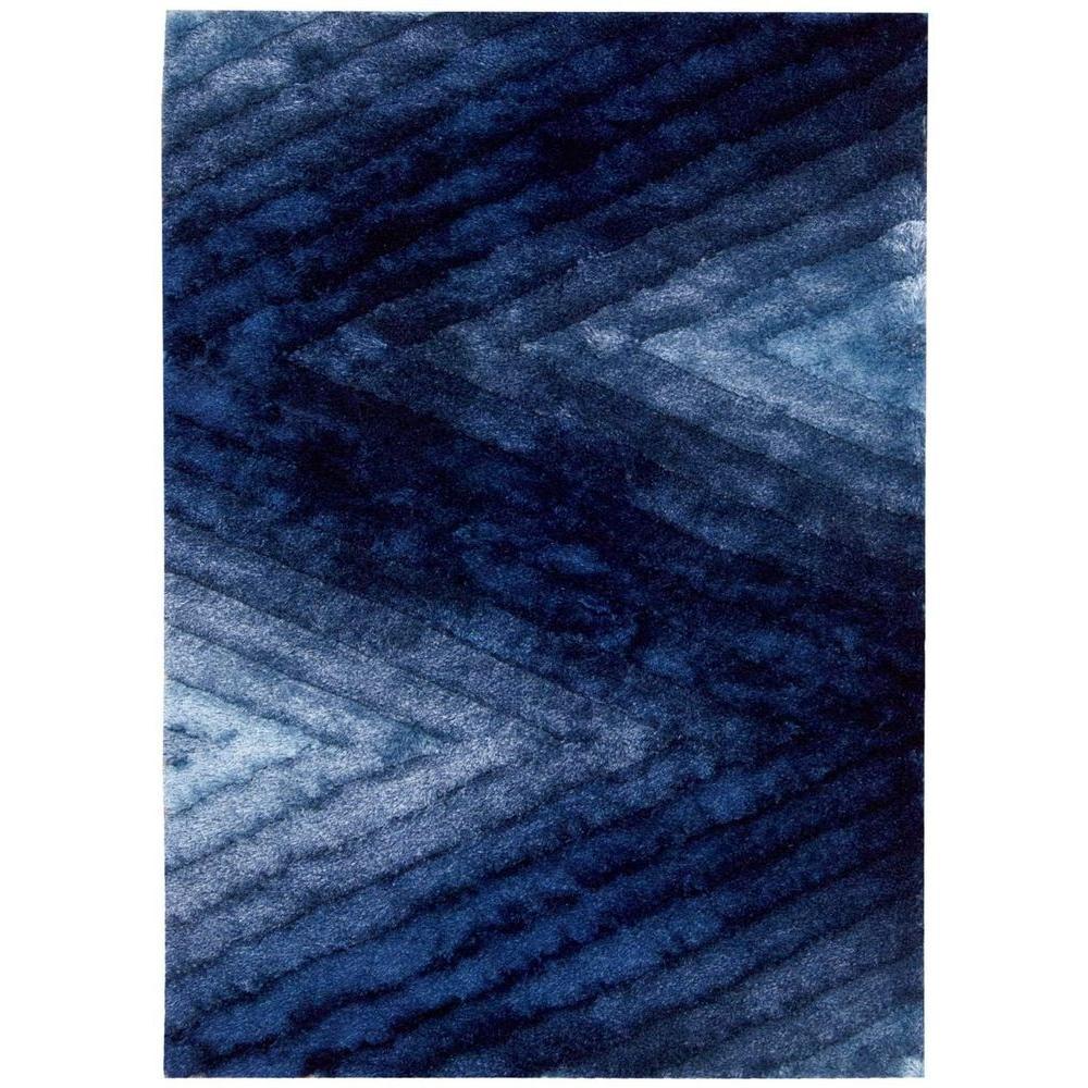 Nourison Overstock Foxy Blue 5 ft. x 7 ft. Area Rug