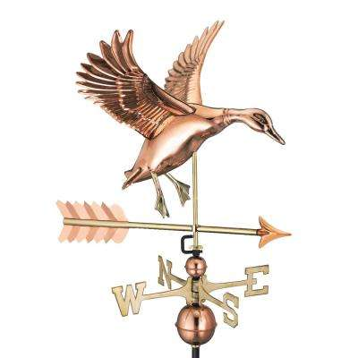 Landing Duck with Arrow Weathervane-Pure Copper