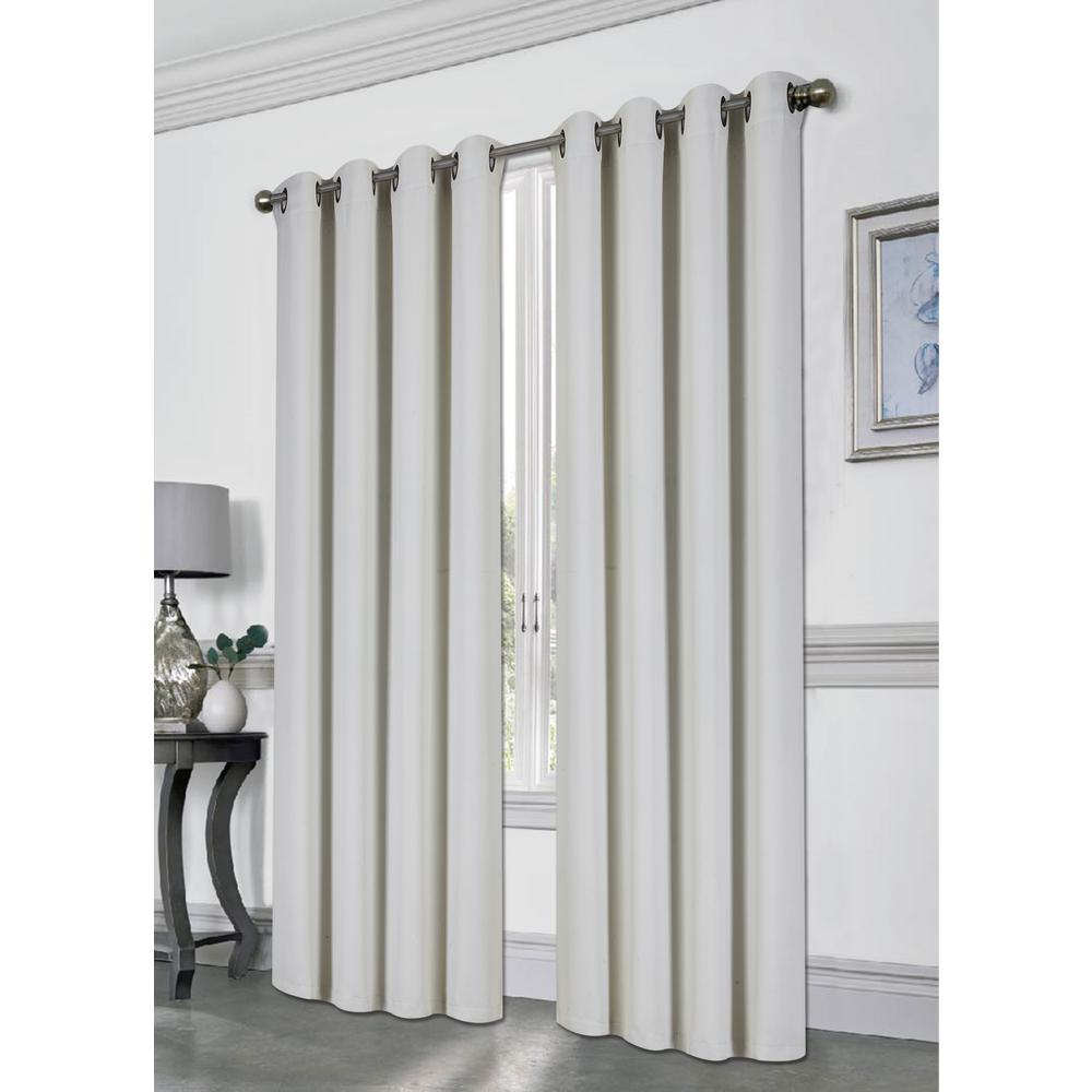 Tessa Cloud 54 in. L Grommet Blackout Curtain