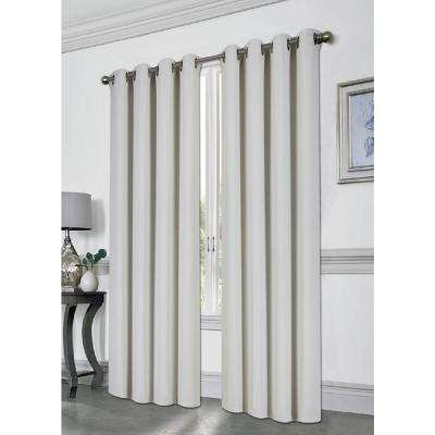 Tessa Cloud 54 in. L Grommet Blackout Curtain
