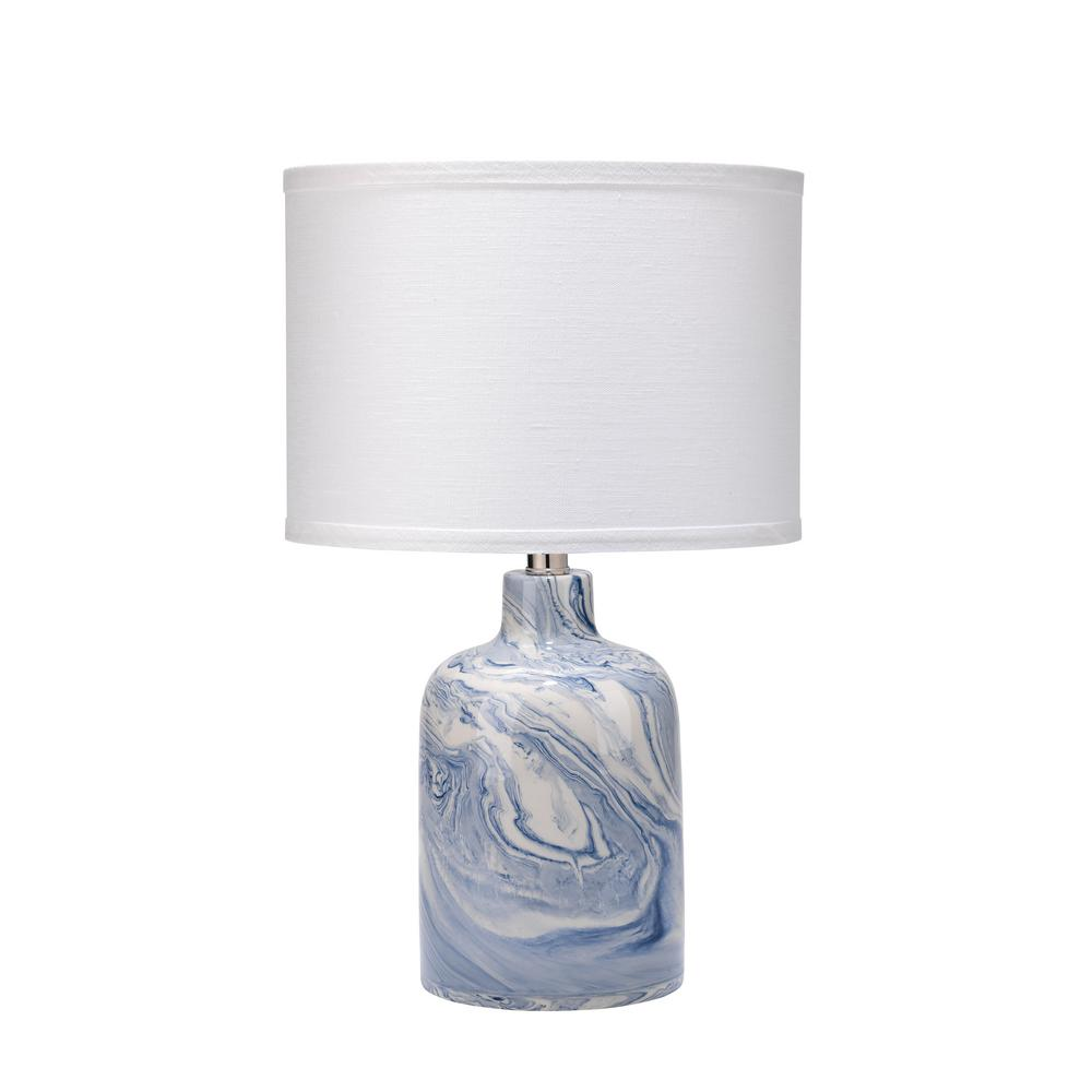 Titan lighting 19 in aruba white outdoor table lamp with royal blue and white atmosphere table lamp with shade geotapseo Image collections