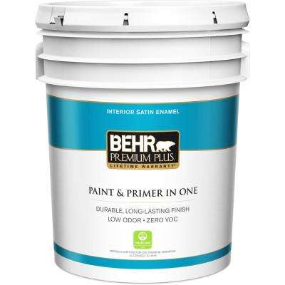 5 gal. Ultra Pure White Satin Enamel Low Odor Interior Paint and Primer in One