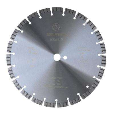 14 in. 23-Teeth Turbo Segmented Laser Welded Diamond Blade for Dry or Wet Cutting Concrete, Stone, Brick and Masonry