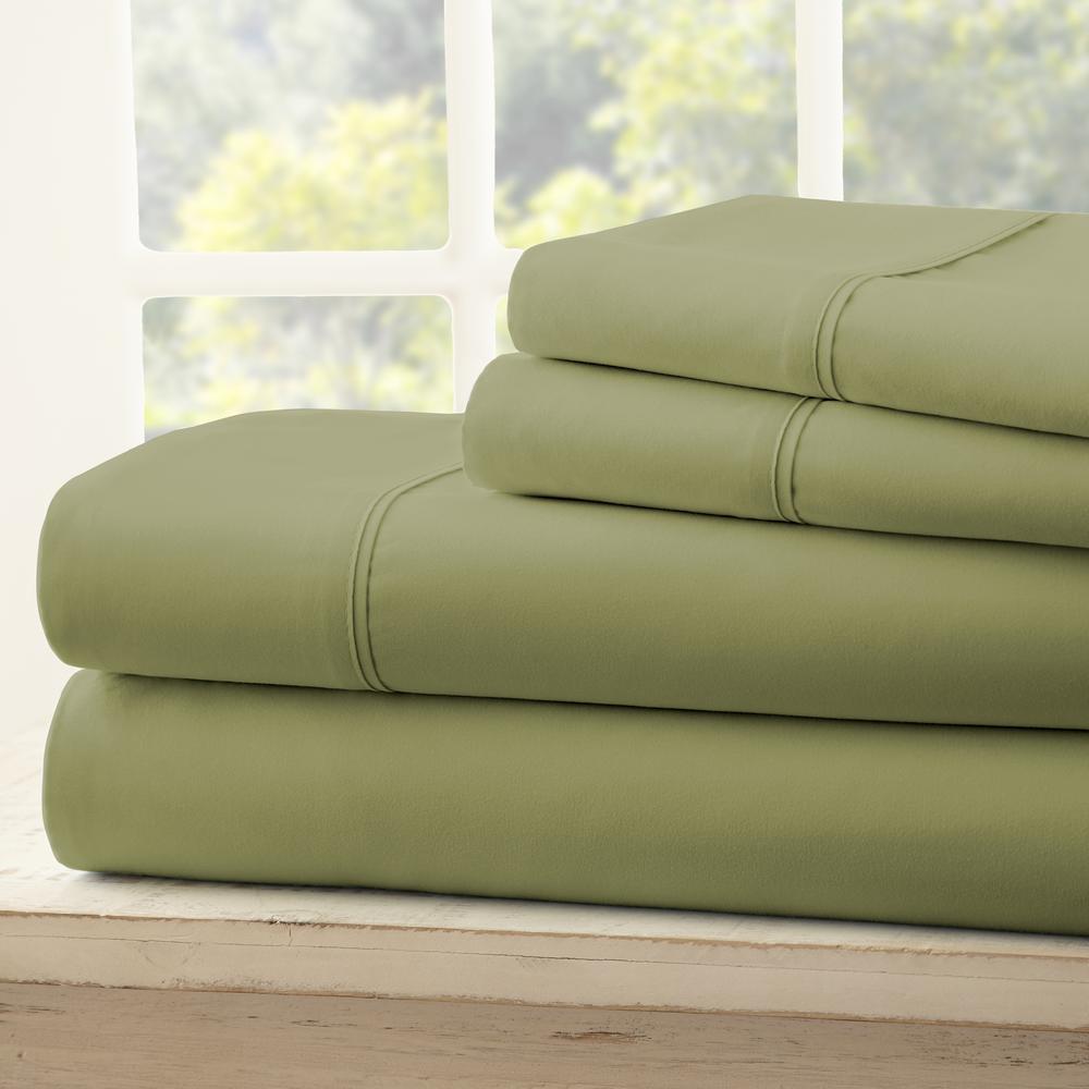 Performance Sage Twin XL 4-Piece Bed Sheet Set